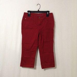 〽️Red Capri Pants B5#26